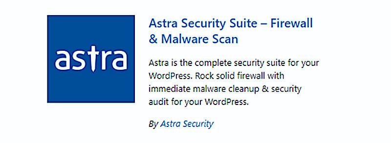 Astra WP security plugin