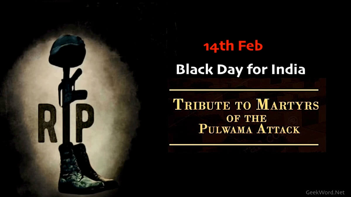 14 feb black day for India