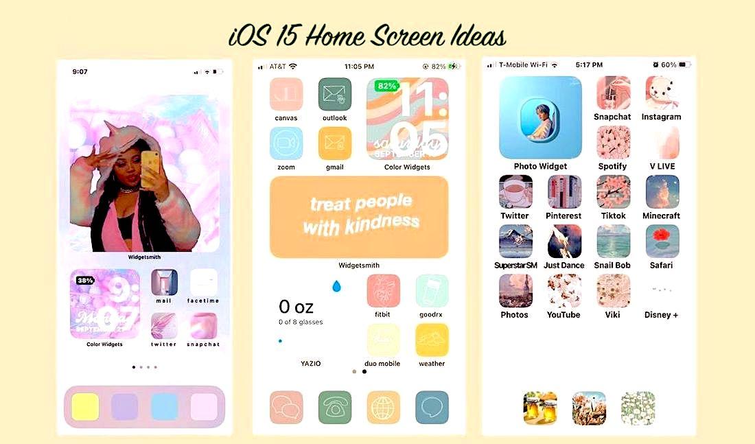 ios 15 home screen ideas