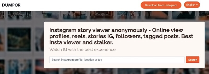 Dumpor - Free and private Instagram story viewer